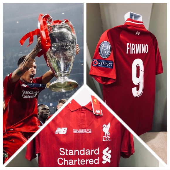 sports shoes bb94c 57409 Firmino #9 Liverpool Soccer Jersey UEFA 2019 Final NWT